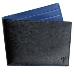 Wurkin RFID Blocking Black/Blue Wallet with Outside Card Pocket $75.00