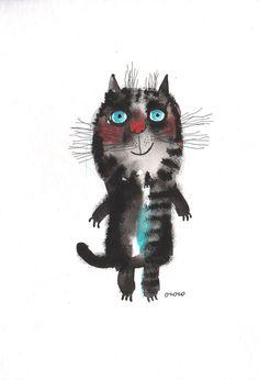 The good mood cat   Nastassia Ozozo via Etsy.