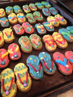 themed birthday parties, flop cooki, summer parties, flip flops, cruis