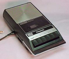 An old school tape recorder