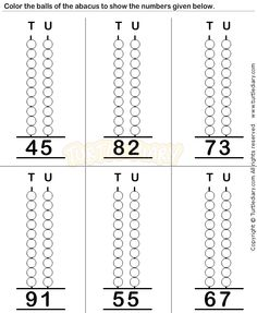 Abacus5 - math Worksheets - preschool Worksheets