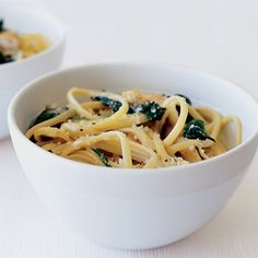 Three-Cheese Linguine with Chicken and Spinach