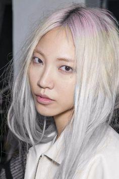 pink white hair