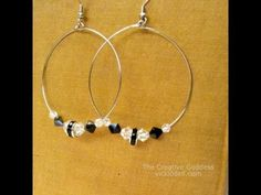 DIY Stylish Beaded Hoop Earrings