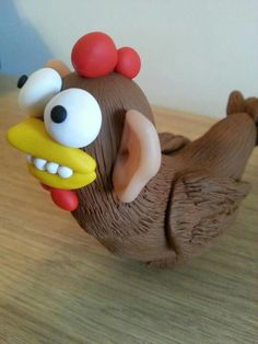Sculpey polymer clay chicken with ears