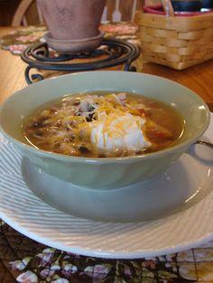 crockpot tortilla, recip box, tortilla soup