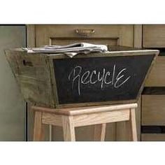 Fun idea and chalk board paint is so in style!