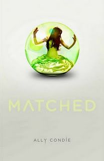 Matched by Ally Condie.  In the Society, Officials decide. Who you love. Where you work. When you die.  Cassia has always trusted their choices. It's barely any price to pay for a long life, the perfect job, the ideal mate. So when her best friend appears on the Matching screen, Cassia knows with complete certainty that he is the one...until she sees another face flash for an instant before the screen fades to black. Now Cassia is faced with impossible choices: between Xander and Ky, between the only life she's known and a path no one else has ever dared follow-between perfection and passion.