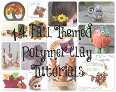 14 Fall Themed Polymer Clay Tutorials including millefiori canes