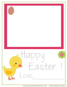 Printable Easter love notes  Kids trace letters and add their own artwork
