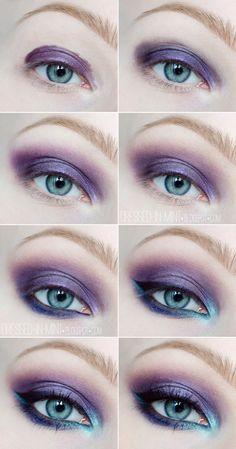 Purple & Blue Eye Shadow + Tutorial