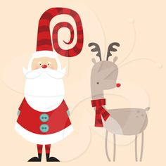 Santa and Rudolph Christmas clipart clip art set by Creative Clip Art Collection. Unique and affordable clip art for personal and commercial use. #santa #christmas #rudolph #clipart #scrapbooking #papercraft #decorating