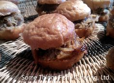 Ancho-Coffee Rubbed Pulled Pork with Red Onion Marmalade on a Home made Brioche Bun