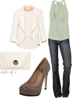 love the blouse and jeans, perfect for a night out with the girls