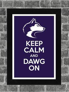 Keep Calm Washington Huskies NCAA Print Art by PortlandInkery, $14.99