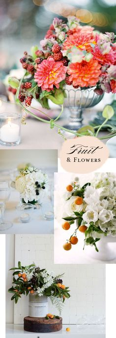 Floral arrangements with fruit | At Home in Love