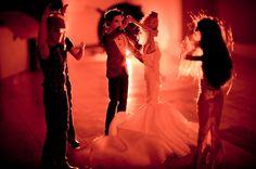 Ken spinning Barbie on the dance floor!