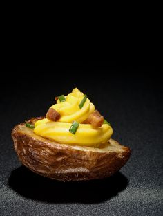 Deviled Potato... Deviled eggs & potato skins in one appetizer!