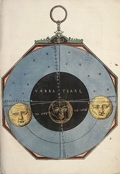 Astronomicum Caesareum, May 1540.   Michael Ostendorfer / Hand-colored woodcuts / This most sumptuous of all Renaissance instructive manuals explained the use of the astrolabe (for calculating the altitude of stars) and other instruments used for computing planetary positions.