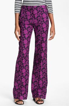 Tory Burch 'Drew' Print Pants available at #Nordstrom