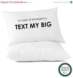 In Case of Emergency Text My Big - #Sorority Pillowcase