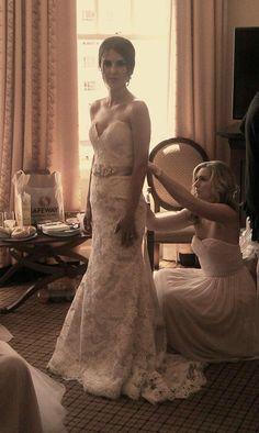 my lace mermaid wedding dress!