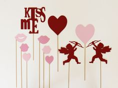 Photo Booth Props. Valentines Day. Photobooth Photo Props. Cupid. $27.00, via Etsy.