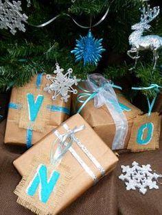 How to Make Monogrammed Burlap Gift Tags | DIYNetwork.com