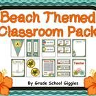 Beach Themed Editable Classroom Pack   This product is over 140 pages and includes a ton of resources to help you decorate and organize your classroom in a fun beach theme.