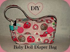 DIY Baby Doll Diaper bag tutorial and pattern from Create and Play Momma