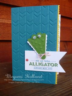 See Ya Later - Alligator Punch Art Card