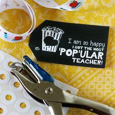Free printable: Popular teacher gift tag. Pair with microwave popcorn for a fun teacher gift #printable #teacher