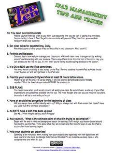 10 iPad Management Tips and Tricks @classroom_tech