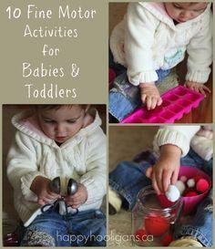 fine motor activities - happy hooligans -10 ideas for babies/toddlers