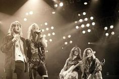 Members of Alice in Chains onstage with Poison, early '90s. (Photo via Metal Sludge; H/T MetalSucks)