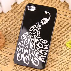 Apple iPhone 4 / 4S Hard Sided Paper-cut Style Painting Case