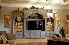 color entertain, dream hous, custom cabinets, large entertainment center, furnitur, tv cabinet, live room, entertain center, entertainment centers