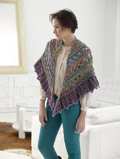 Falling Water Shawl free crochet pattern