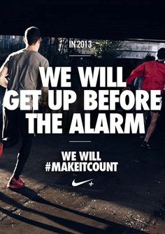 Sweat while they sleep. #makeitcount #nike