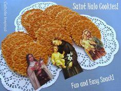 Saint Halo Cookie Display {An Easy and Fun Treat!} ~ Catholic Inspired