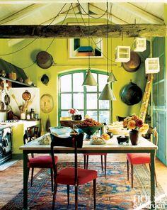 Rustic Kitchen in Piedmont, Italy