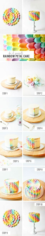 Rainbow Petal Cake | DIY & Crafts Tutorials