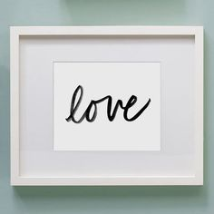 Love Art Print Watercolor Wall Art 8 x 10