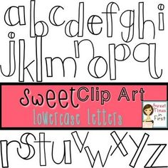 Sweet Clip Art: White Lowercase Doodle Letters