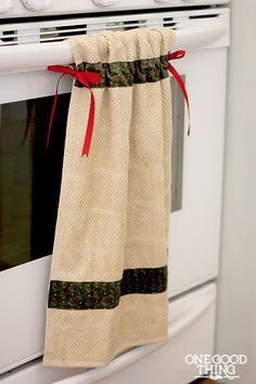 hanging dish towel or hand towel in the bathroom....would keep kids from pulling them down!