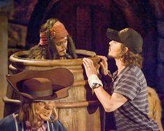 Johnny Depp riding Pirates of the Caribbean the Disney ride johnny depp, johnni depp, funni, disney ride, pirat, depp percept, caribbean, captain johnni, depp dreamin