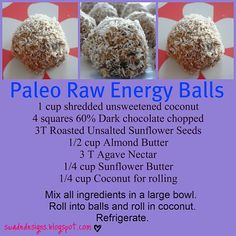Protein Balls on Pinterest | Protein Ball, Almond Butter and Paleo ...