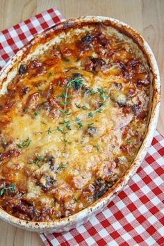 Pancetta and Porcini Potato Gratin