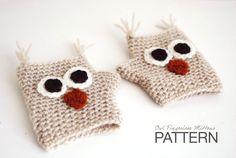 CROCHET PATTERN  Hayden The Owl Fingerless by TheNewcrochet