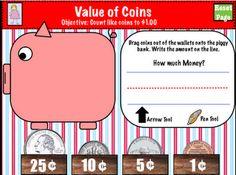 Cute first grade smart board/ promethean board math lessons!